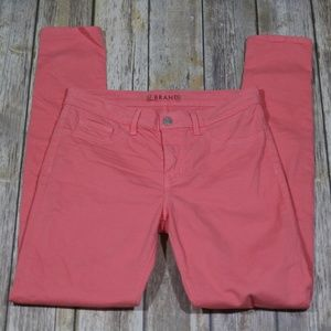 J Brand Skinny Leg Ankle Jeans High Rise Coral